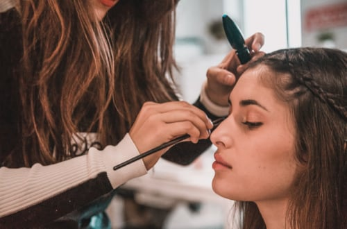 Maquillage de mariée à domicile