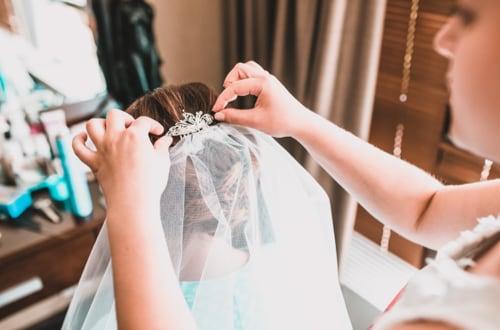 Coiffure de mariée avec essai