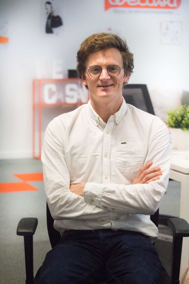 Portrait de Julien, CTO de la start-up Wecasa