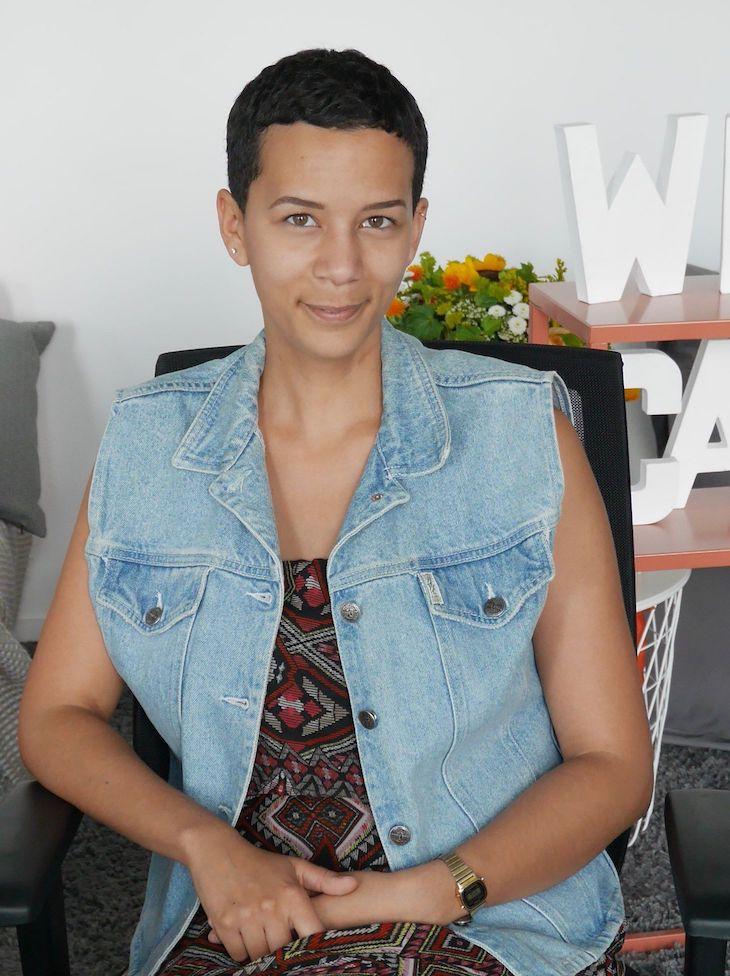 Portrait de Mélissa, chargée de clientèle de la start-up Wecasa