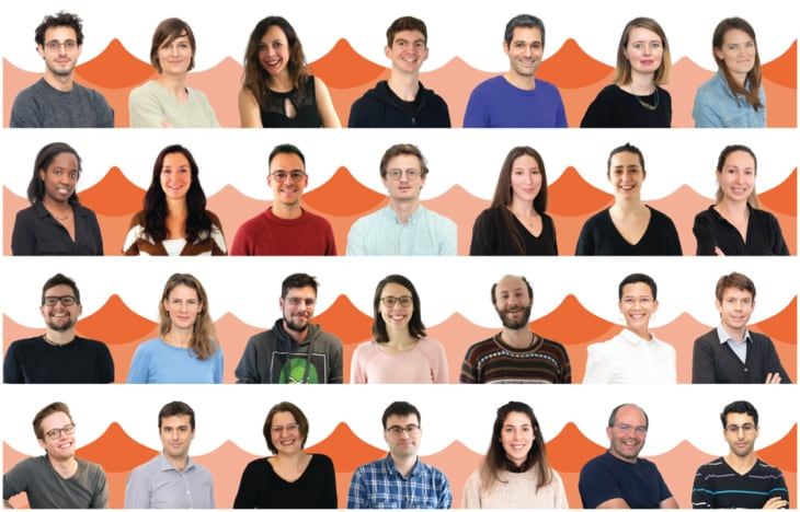 L'équipe Wecasa au complet, composée de 28 personnes.