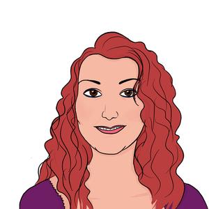 Portrait dessiné de Céline