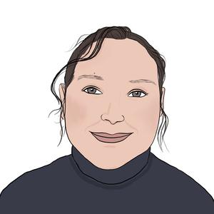 Portrait dessiné de Hind