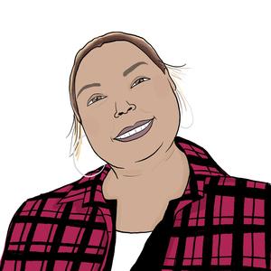 Portrait dessiné de Kaoutar