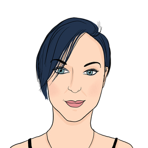 Portrait dessiné de Sandie