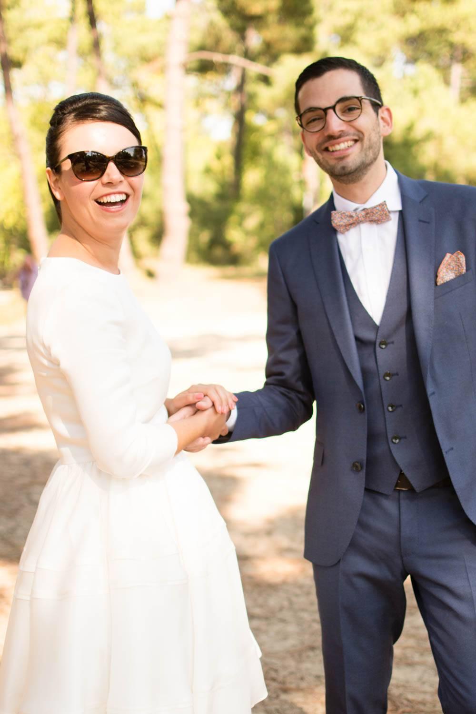 un couple joyeux