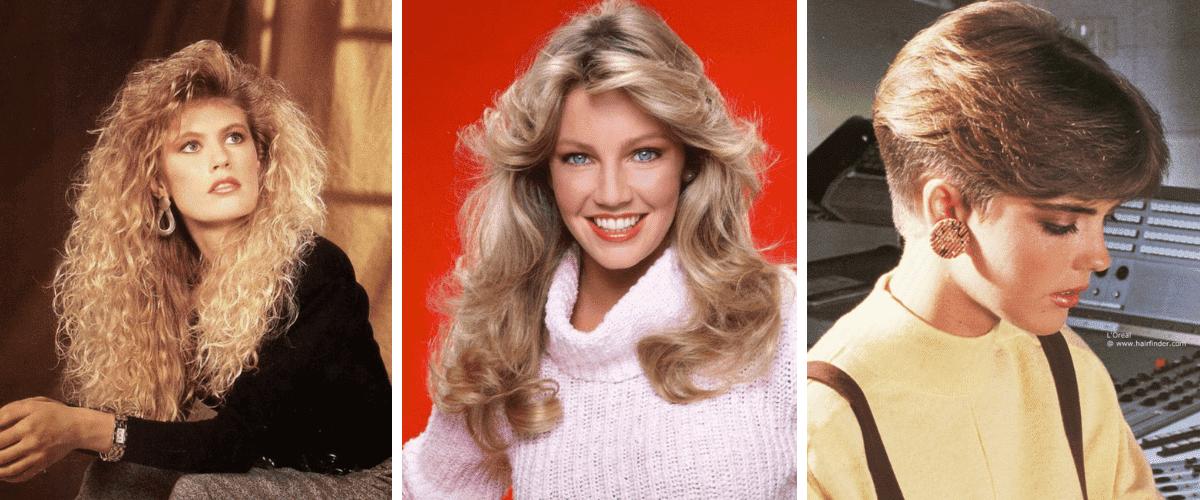 3 coiffures des années 80