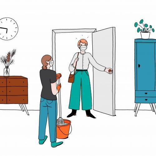 Confinement et ménage : quelles autorisations & obligations ?