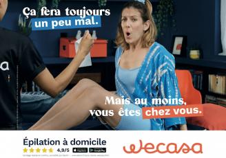 Campagne de pub Wecasa juillet 2021